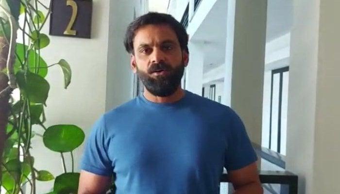 Pakistan all-rounder Mohammad Hafeez speaks to Geo News. Photo: File
