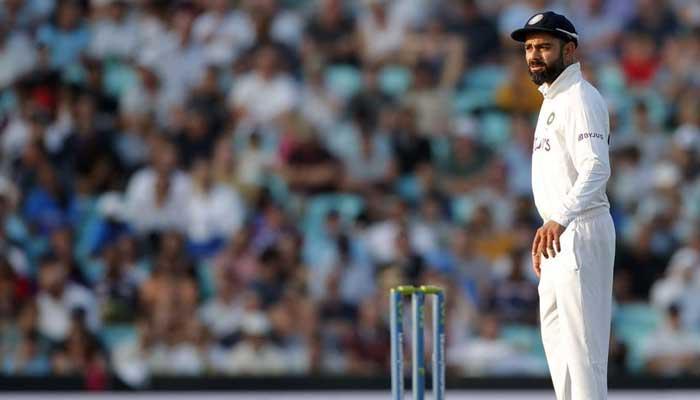 Cricket - Fourth Test - England v India - The Oval, London, Britain - September 5, 2021 Indias Virat Kohli looks on Action Images via Reuters/Andrew Couldridge