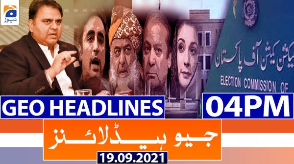 Geo Headlines 04 PM | 19th September 2021