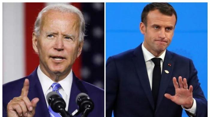 Joe Biden asks for early talks with Emmanuel Macron amid submarine row