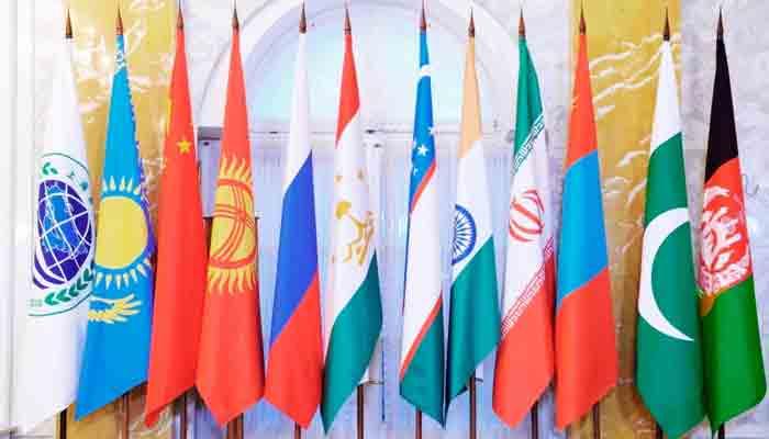 Flags of SCO members.