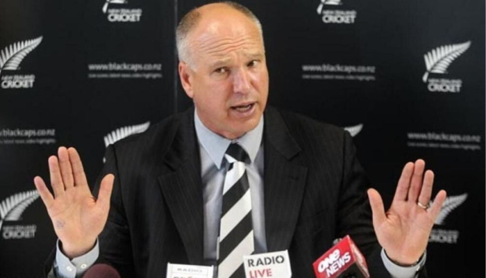 David White gestures as he speaks to the press. Photo; File
