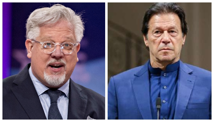 US political commentator Glenn Beck (Left) and PM Imran Khan. Photo: File