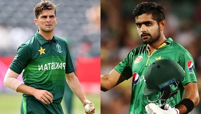 Pakistans fast-paced bowler Shaheen Shah Afrid (left) and skipper Babar Azam. — Twitter/File