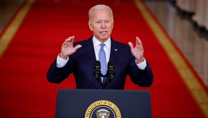 Joe Biden delivers remarks on Afghanistan during a speech at the White House on August 31. — Reuters/File