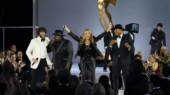Emmys open with a musical number led by Rita Wilson, LL Cool J and Lil Dicky