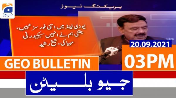 Geo Bulletin 03 PM | 20th September 2021