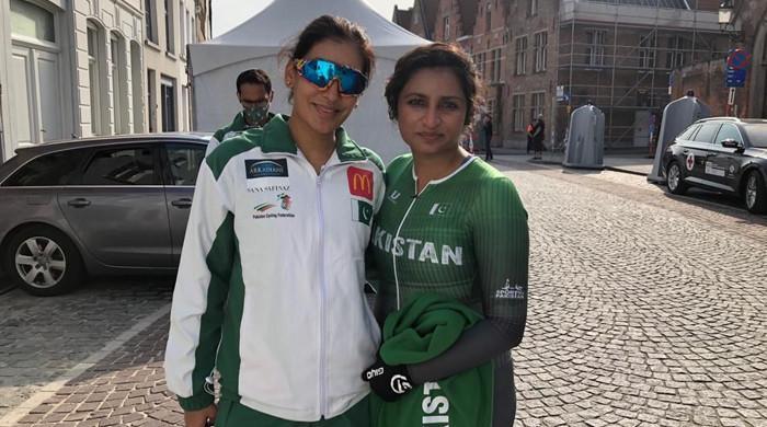 Despite career-best performance, Kanza Malik, Asma Jan finish last in cycling championship