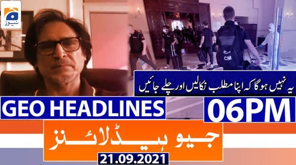 Geo Headlines 06 PM | 21st September 2021
