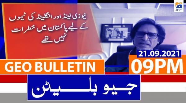 Geo Bulletin 09 PM | 21st September 2021