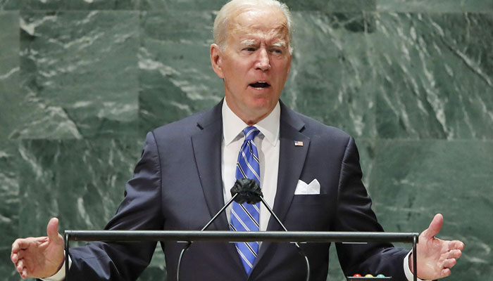 Biden says he does not want cold war with a world divided in different blocs. AFP