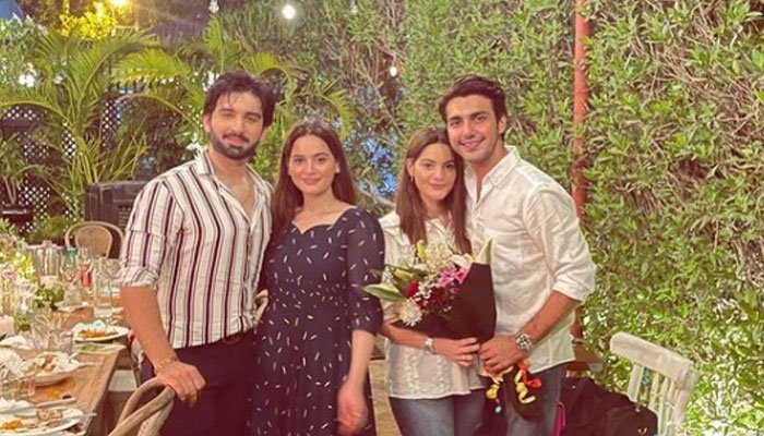 Aiman, Minal Khan pose with their other halves in picture-perfect portrait