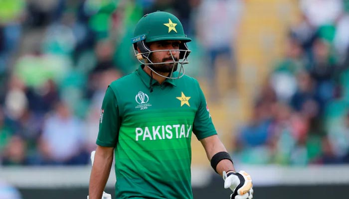 Pakistani cricket captain Babar Azam during a match. Photo:PCB.