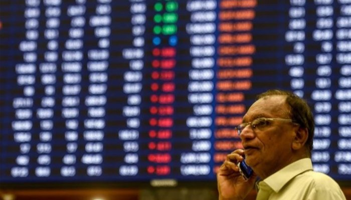 The digital stock board at the Pakistan Stock Exchange. —Reuters/File