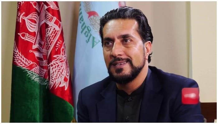 Newly appointed Afghanistan cricket chairman Azizullah Fazli. Screengrab via YouTube/ TOLOnews