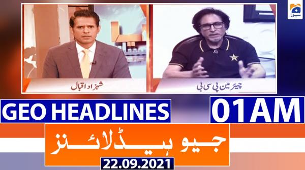 Geo Headlines 01 AM | 22nd September 2021