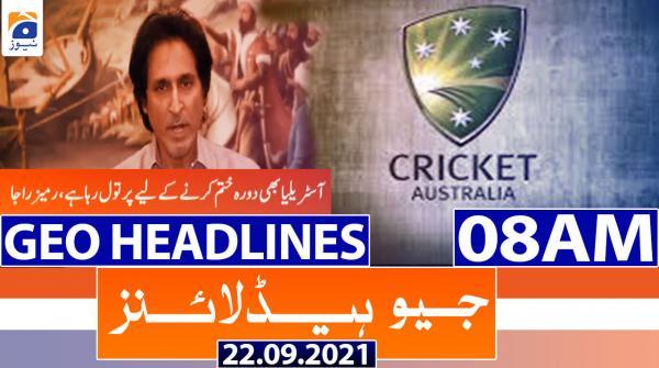 Geo Headlines 08 AM | 22nd September 2021