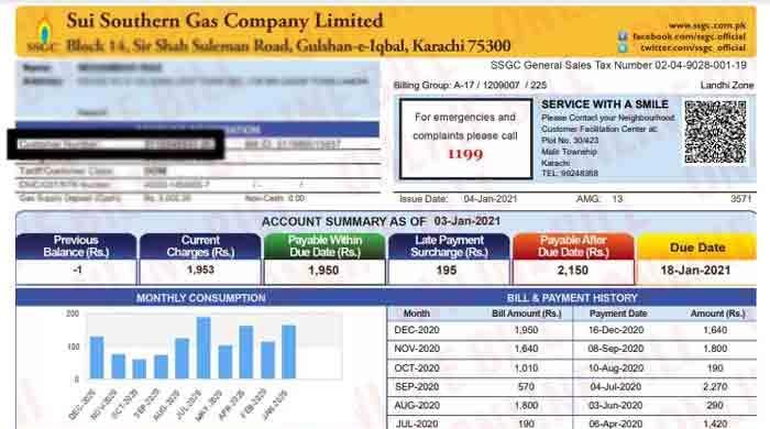 Sindh decides to add utility tax to SSGC bills
