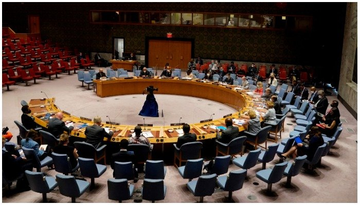 The UN Security Council room where delegates from various countries hold meetings. Photo: AFP