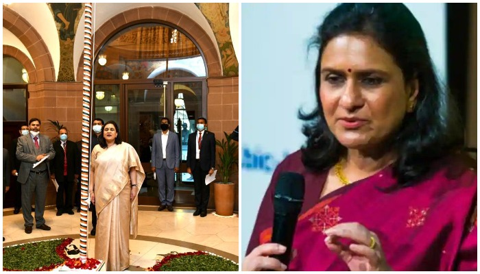 High Commissioner of India to the United Kingdom,Gaitri Issar Kumar. Photos: ReporteHindustan Times