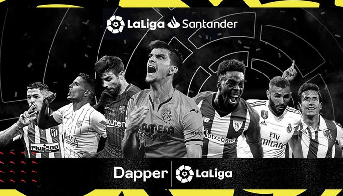 Promotional image created by blockchain company Dapper Labs, which announced plans for a platform for buying soccer-related NFTs in partnership with Spanish soccer league La Liga, in seen in this undated digitally created handout picture. — Reuters/File