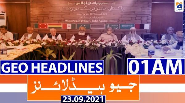 Geo Headlines 01 AM | 23rd September 2021