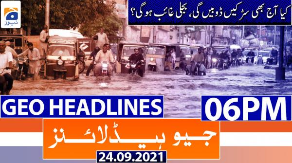 Geo Headlines 06 PM | 24th September 2021