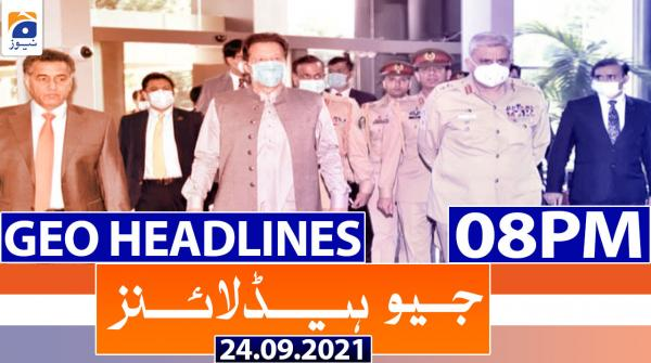 Geo Headlines 08 PM | 24th September 2021