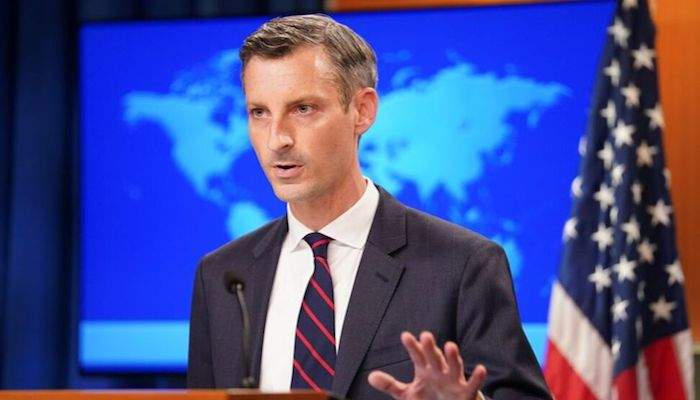 US State Department spokesman Ned Price holds a press briefing on Afghanistan at the State Department in Washington, U.S., August 16, 2021. Photo: Reuters