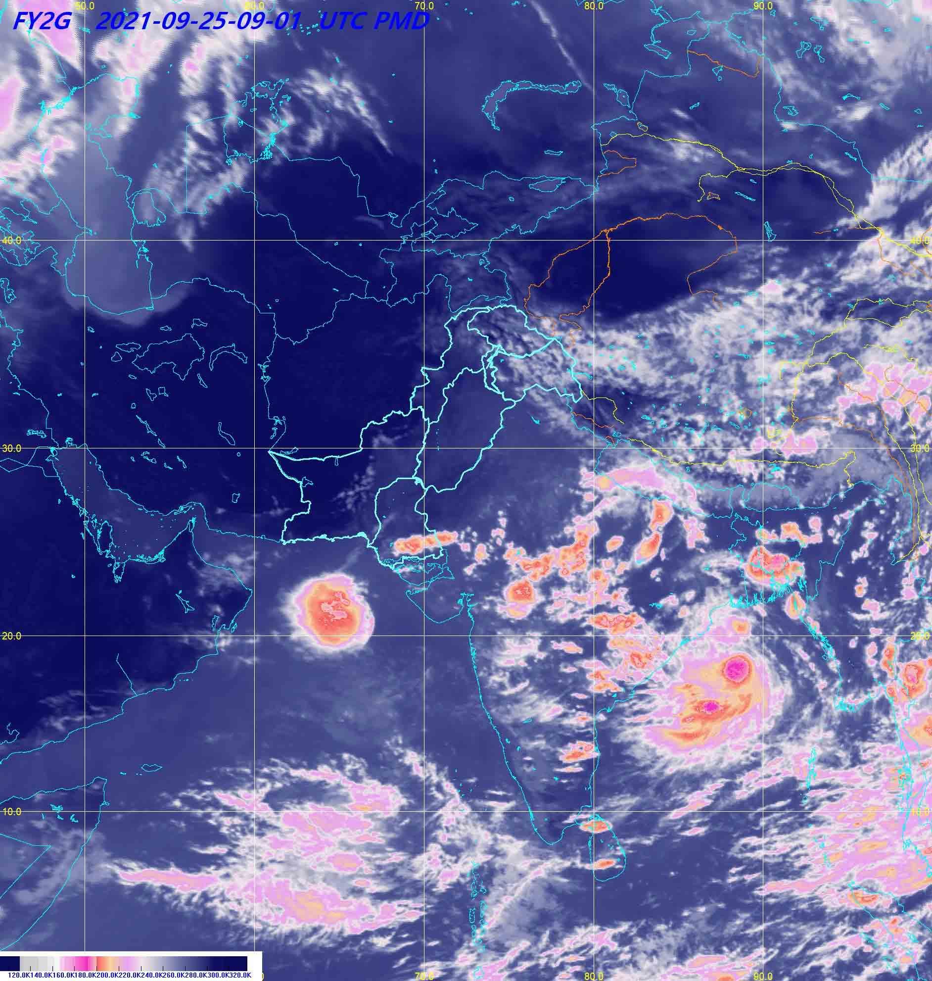 Satellite image. -PMD