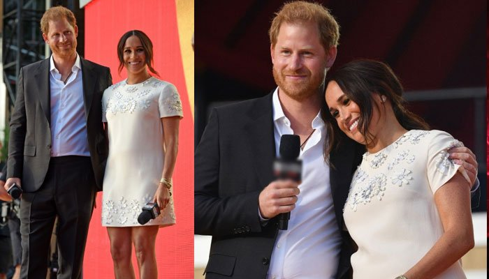 Meghan Markle steals limelight in mini white dress at Global Citizen Live with Harry