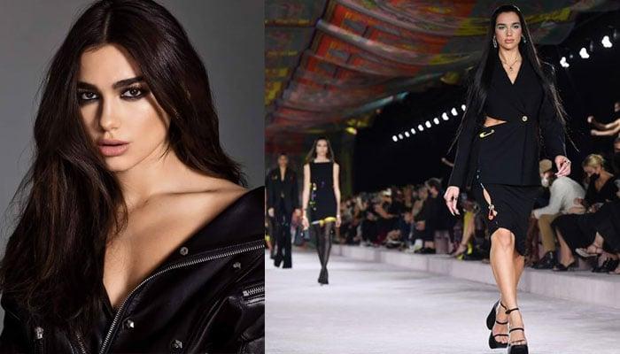 Dua Lipa walks alongside Gigi Hadid, Irina Shayk at Versaces Milan Fashion Week