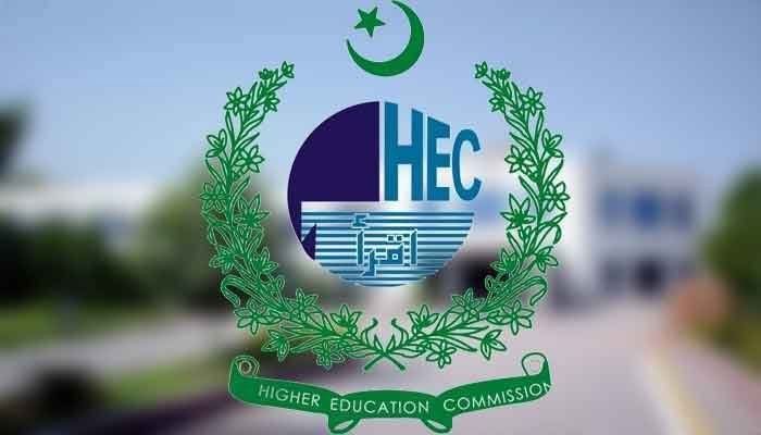 Image showing the official logo of the Higher Education Commission. Photo: hec.gov.pk