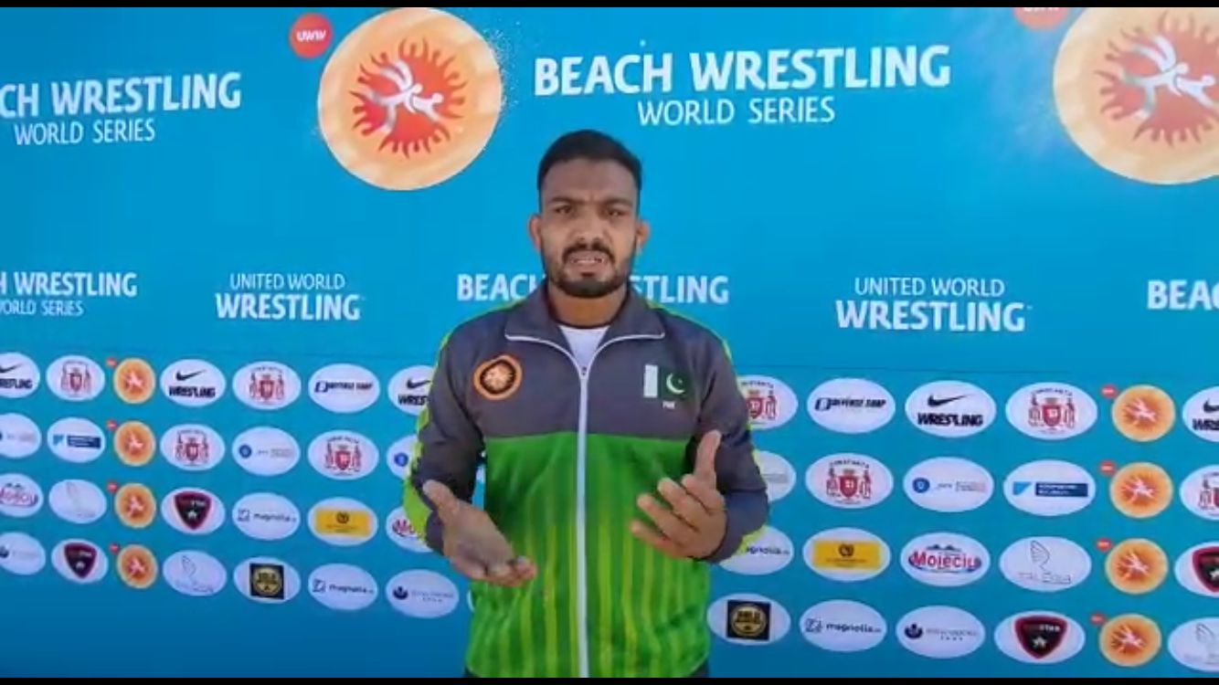 Pakistan's top wrestler Inam Butt. Photo provided by the reporter.