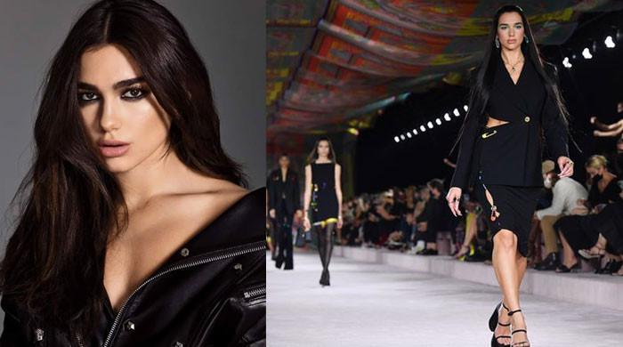 Dua Lipa walks alongside Gigi Hadid, Irina Shayk at Versace's Milan Fashion Week
