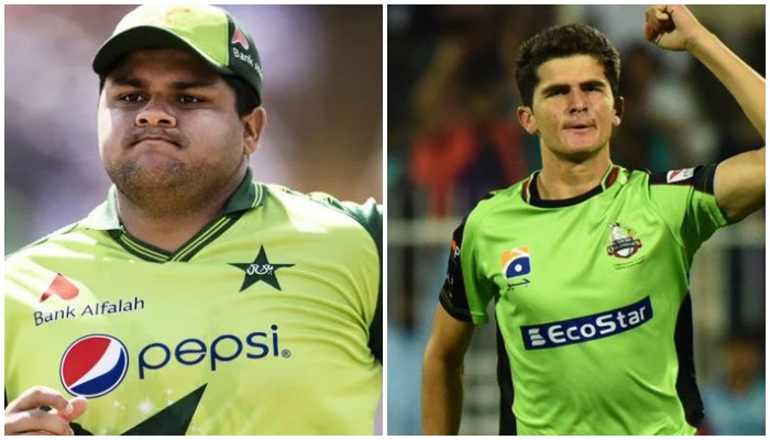 Azam Khan (L) and Shaheen Shah Afridi (R) have been fined for breaching the PCBs code of conduct. Photos: Geo Super.