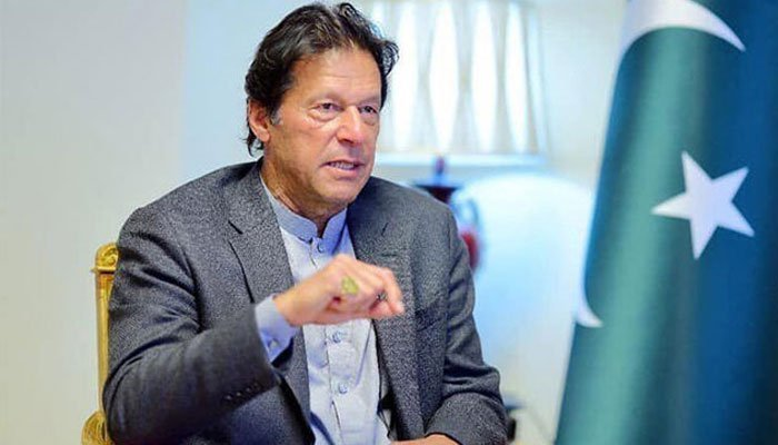 Prime Minister Imran Khan gestures during an interview. Photo: File