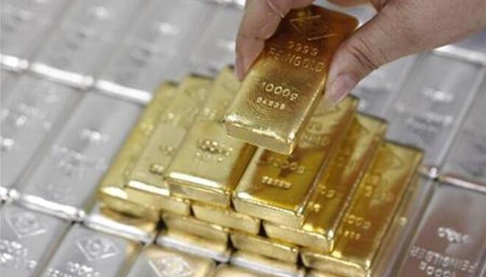 Gold rates in Pakistan are around Rs1,000 below the cost compared to the gold rate in the Dubai market.—Reuters/File