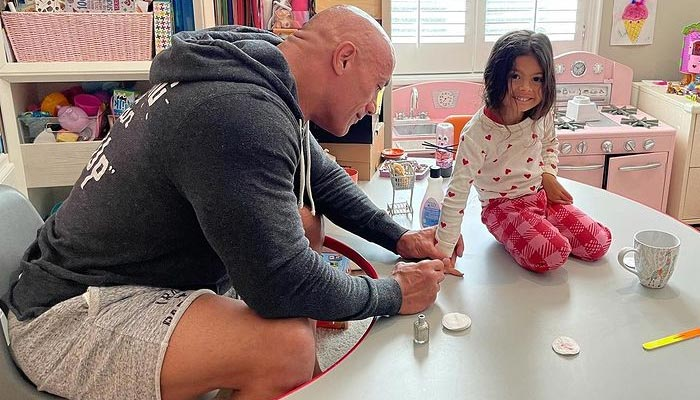 Dwayne Johnson shows off nail art skills in wholesome post
