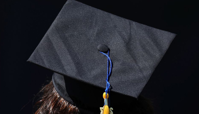 The top of the cap of a graduating student is pictured during their graduation ceremony at UC San Diego in San Diego, California, U.S. June 17, 2017. — Reuters/File