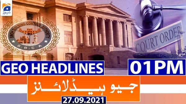 Geo Headlines 01 PM | 27th September 2021