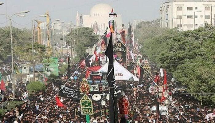Chehlum procession being held in Karachi. Photo: File