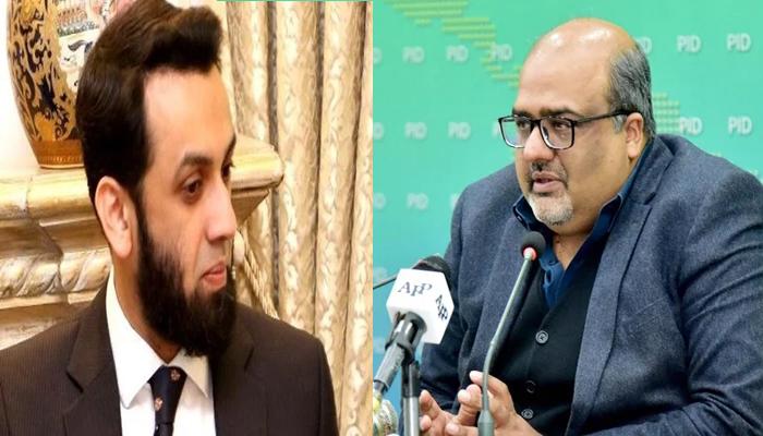 (Left to right)PML-N senior leader Atta Tarar andAdviser to Prime Minister on Accountability and Interior Mirza Shahzad Akbar. — PID/Twitter