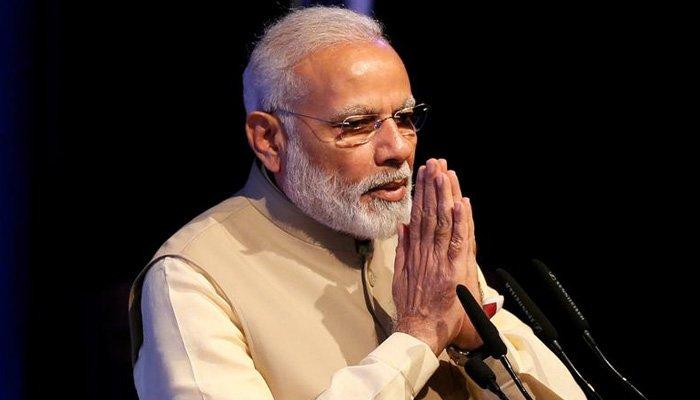 Indias Prime Minister Narendra Modi gestures during the United Nations Vesak Day Conference in Colombo, Sri Lanka.— Reuters/Files
