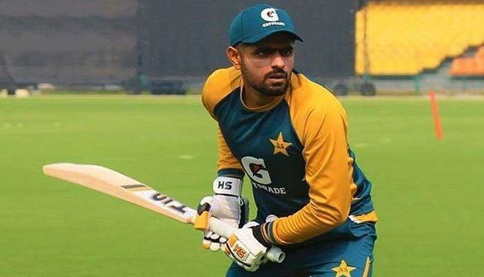 Pakistan captain Babar Azam during a practice session. Photo: File
