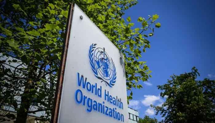 The logo of World Health Organisation (WHO)