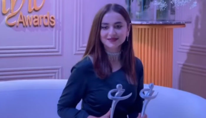 GEO LSA 2021: Yumna Zaidi breaks records with 2 Best Actress wins