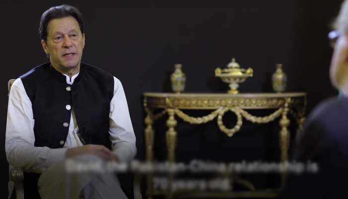PM Imran Khan speaks to the Middle East Eye. Photo: Middle East Eye screengrab.