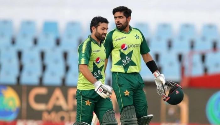 Babar Azam (right) and Mohammad Rizwan. — PCB/File