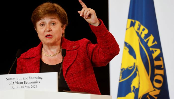 International Monetary Fund (IMF) Managing Director Kristalina Georgieva speaks during a joint news conference at the end of the Summit on the Financing of African Economies in Paris, France May 18, 2021. — REUTERS